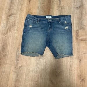 Torrid distressed denim shorts